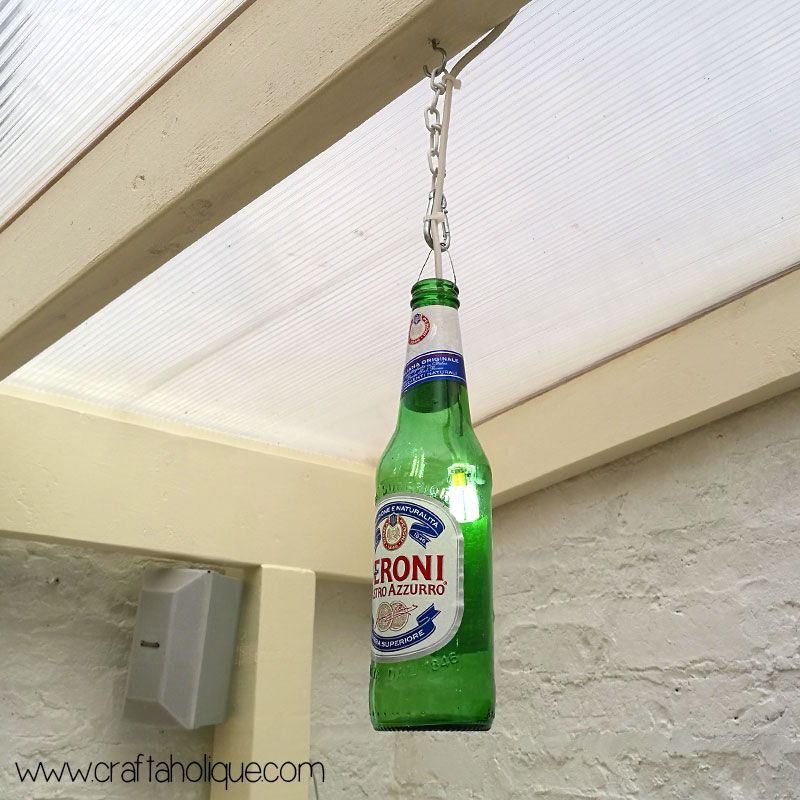 Beer bottle lights tutorial by Craftaholique