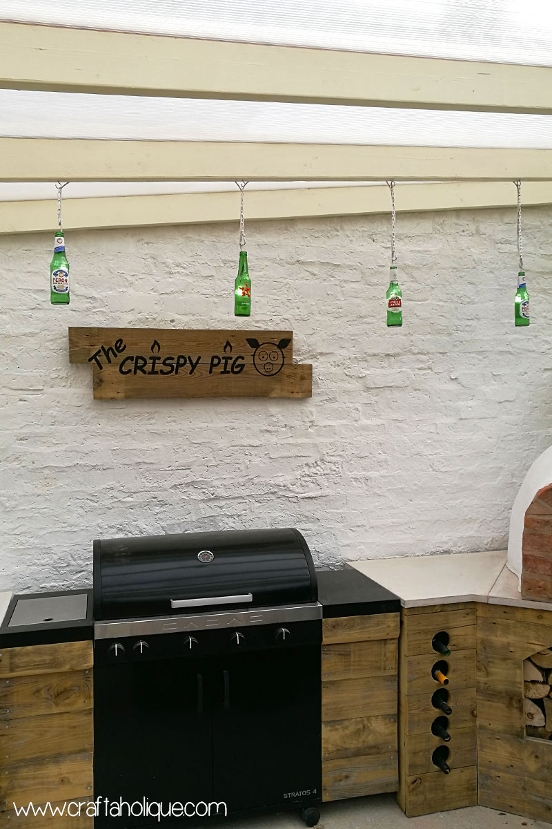 Beer bottle recycling - beer bottle lights project
