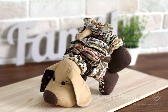 Плюшевая собака YoYo (мастер-класс)