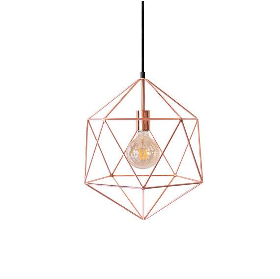Медный геометрический многогранный подвесной светильник с помощью освещения алхимии