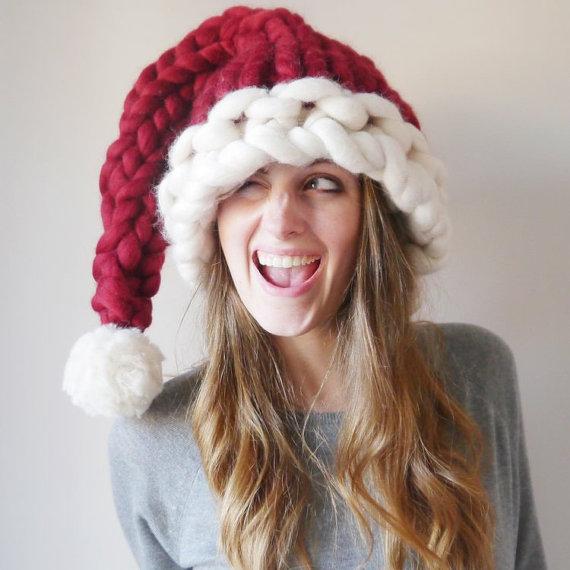 Chunky Knit Santa Hat от Lauren Aston Designs