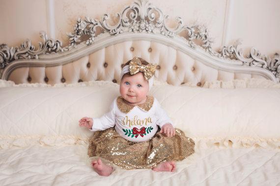 Новогоднее украшение для девочек для детей Posh Peanut