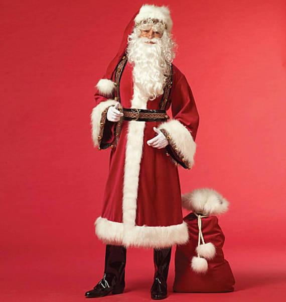 Красивый длинный длинный Deluxe Нордический костюм Санта-Клауса от Hayley Jayne Designs