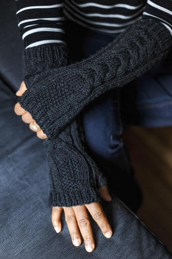 Перчатки без пальцев Вязание на 12 маленьких вещей