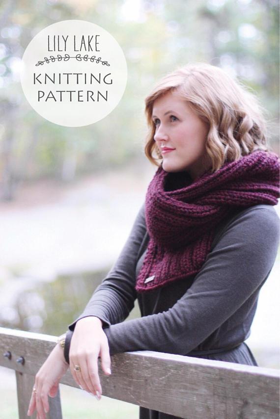 Настоящий Северный шарф вязания Pattern от Лили Озеро Виски