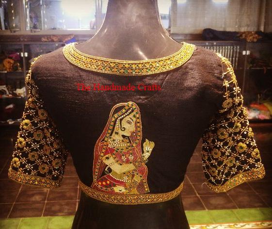 Простые вышивальные идеи для всех сари, блузки и платьев