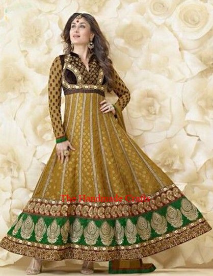 Kareena Kapoor Style Faux Georgette Fabric Salwar Kameez с подходящим дном и дупаттой