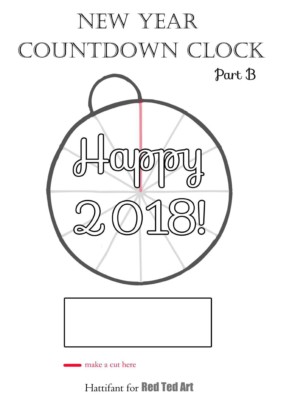 Часы обратного отсчета для печати в канун Нового года