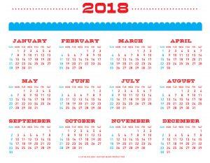 2018 Чайные полотенца Календарь