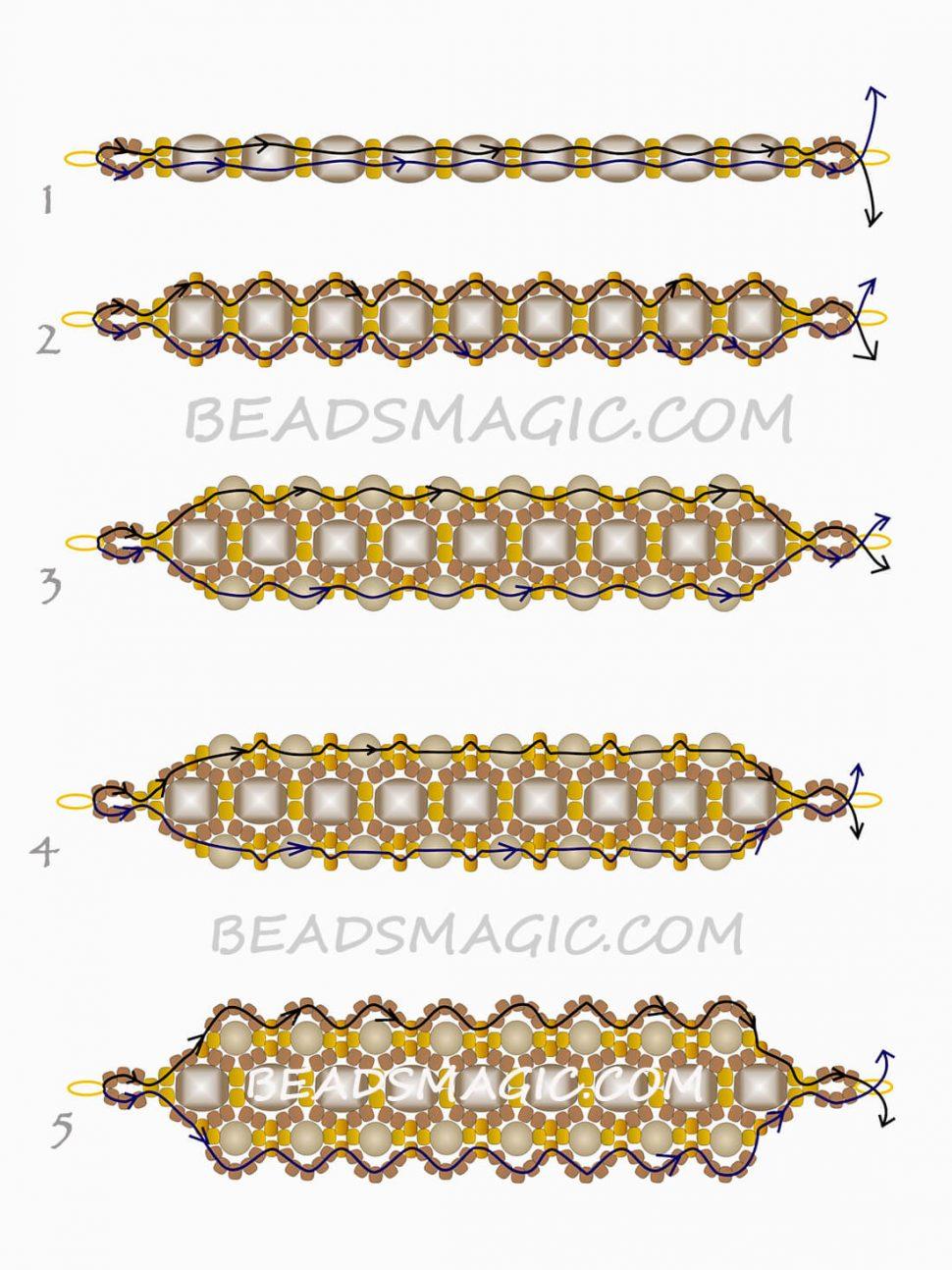 Плести браслеты из бисера для начинающих фото