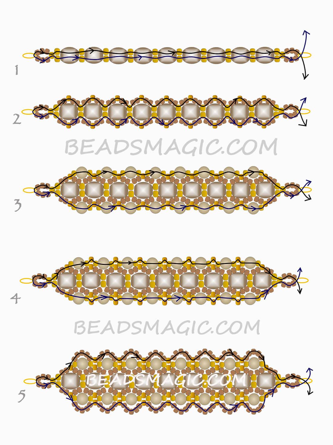 Схемы для браслетов из бисера