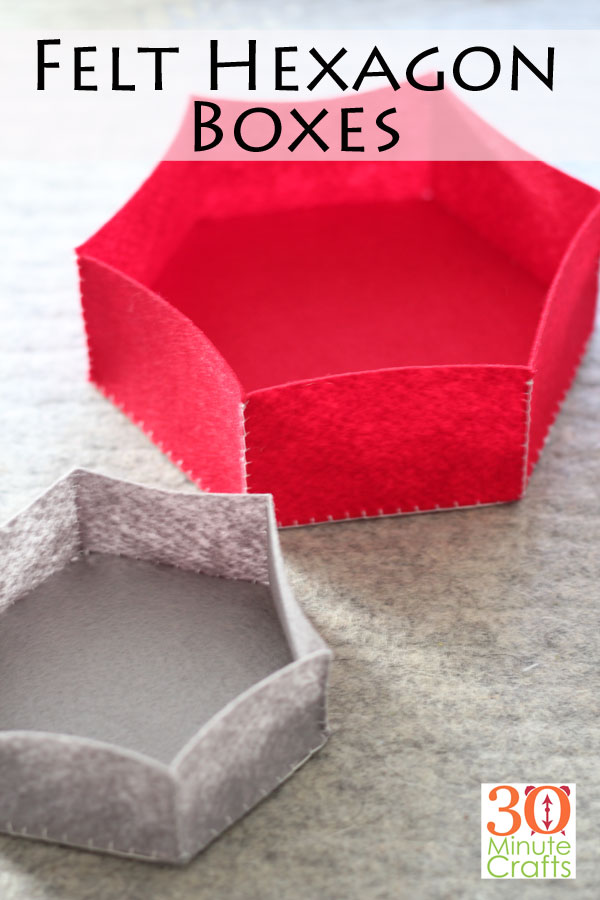 """Felt Hexagon Box - 30 минут ремесла .com - Cricut Craft Project """"width ="""" 600 """"height ="""" 900 """"/> <span class="""