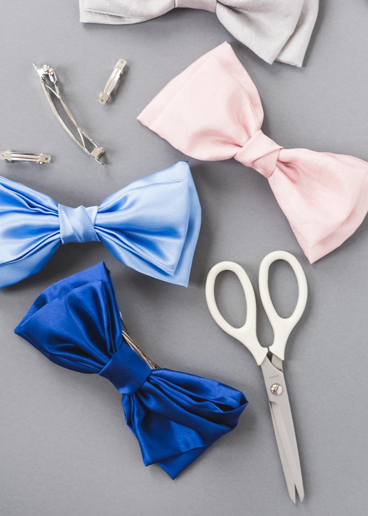 DIY шелковый лук для волос