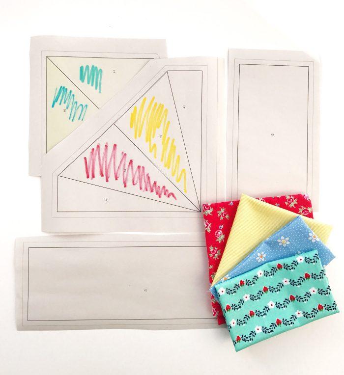 Paper Pieceing для начинающих с рисунком кайт-бумаги
