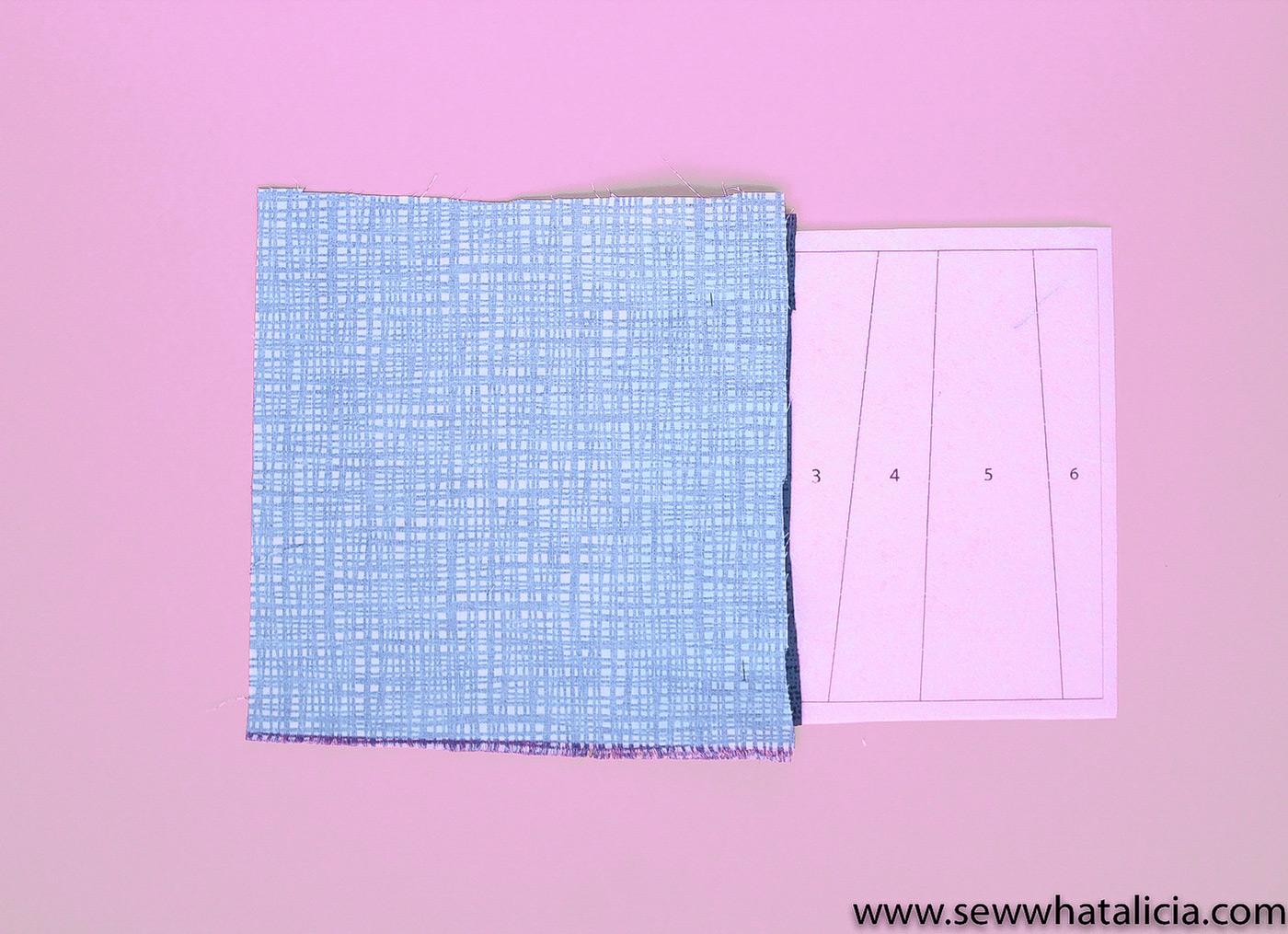 Легкая полосатая бумага с надписью Quilt Block