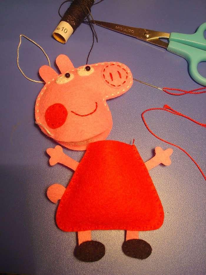 Как сделать свинку пеппу своими руками