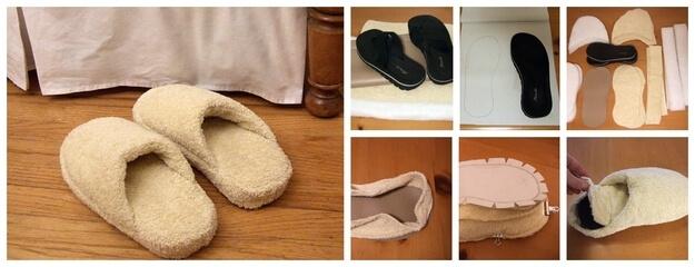 Способ пятый — тапочки из полотенца