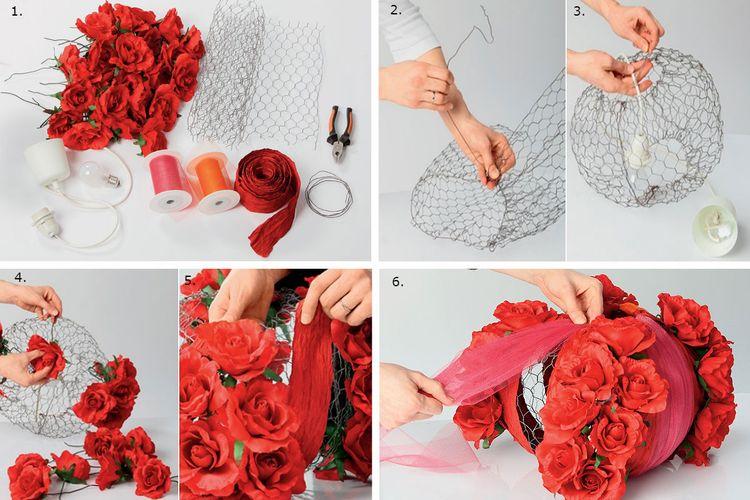 Пошаговая инструкция по изготовлению абажура из сетки