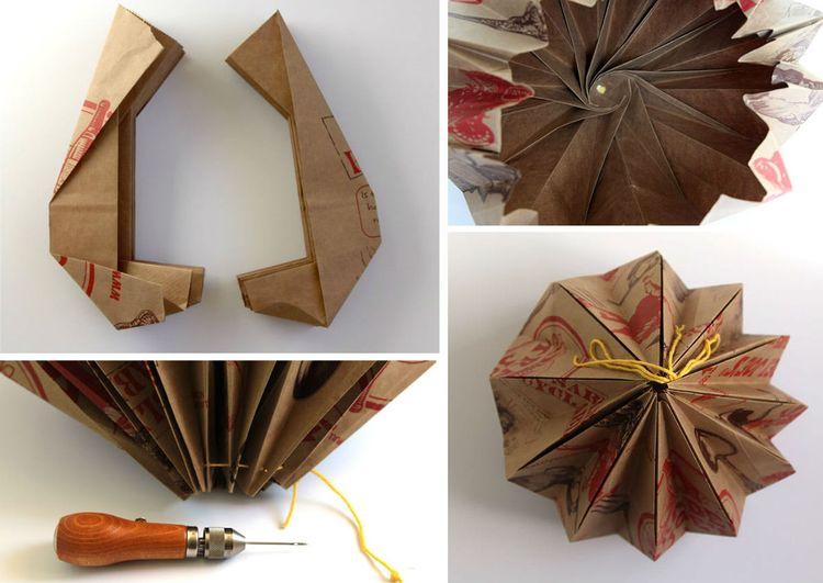 Пошаговая инструкция по изготовлению абажура-оригами