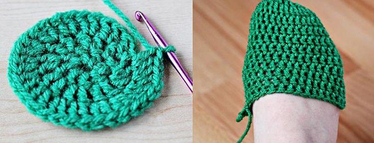 Пошаговая инструкция вязания тапочек-пинеток крючком