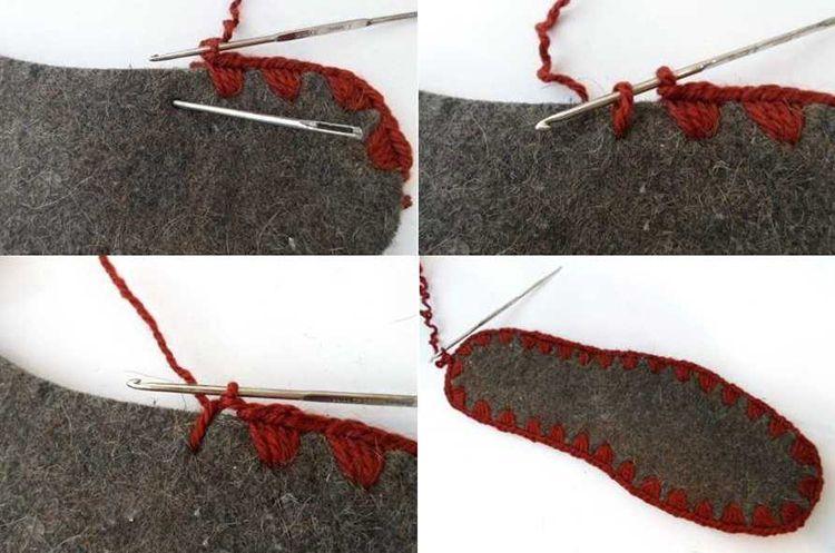 Пошаговая инструкция вязания  крючком тапочек на подошве
