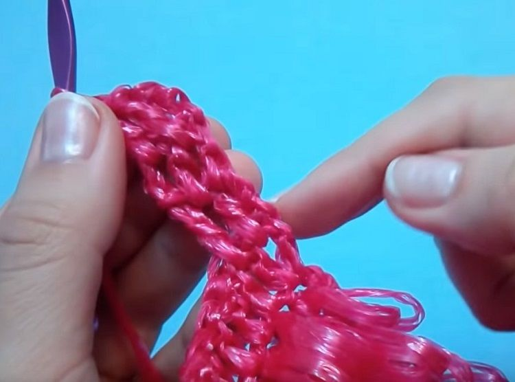 Схема вязания однослойной мочалки