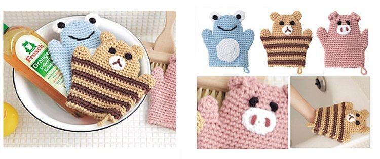 Схема вязания детской мочалки-игрушки