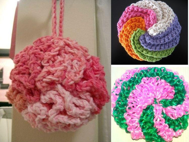 Схема вязания мочалки-спонжа