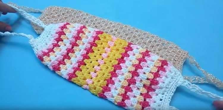 Схема вязания плоской мочалки