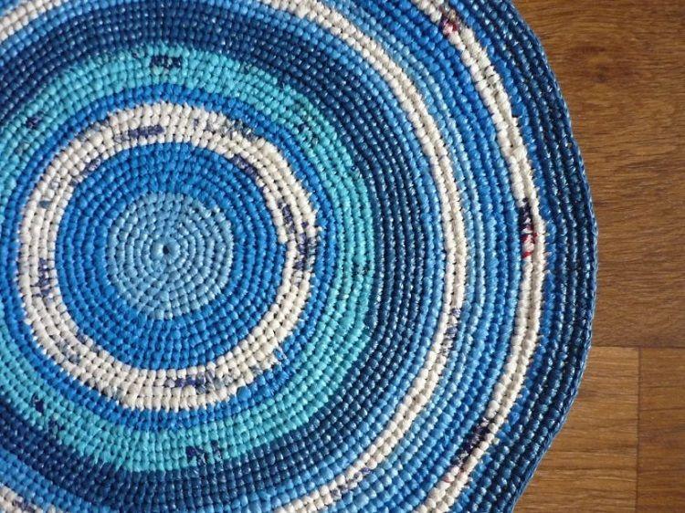 Схема вязания коврика крючком из пакетов