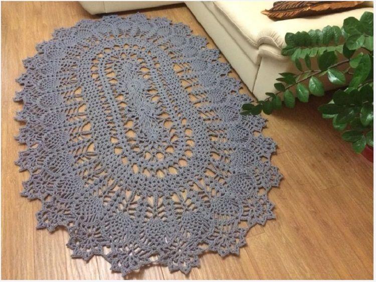 Схема вязания коврика крючком из полипропиленового шнура
