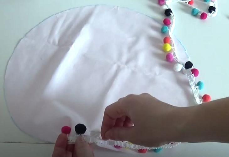 Мастер-класс по пошиву круглой подушки
