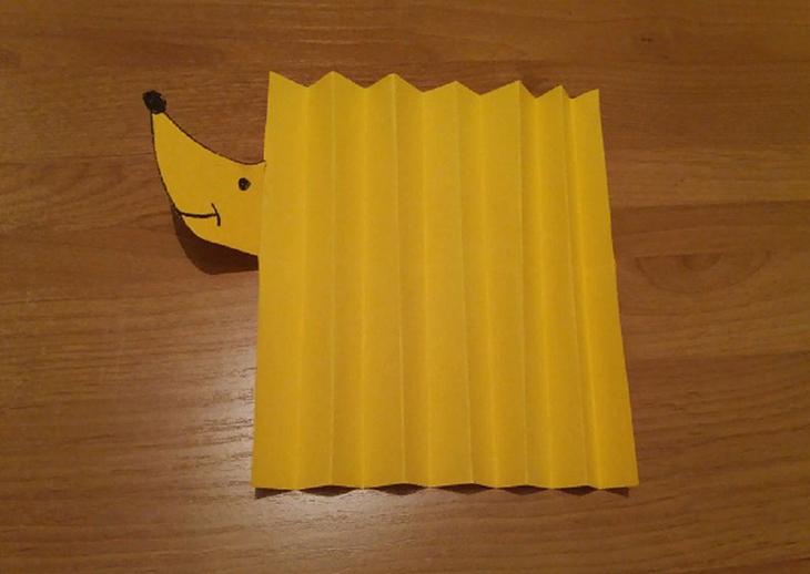 Мастер-класс по изготовлению простой модели ежика из бумаги