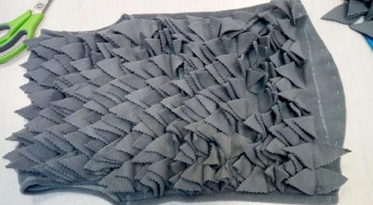 Иголки для костюма ежика из ткани