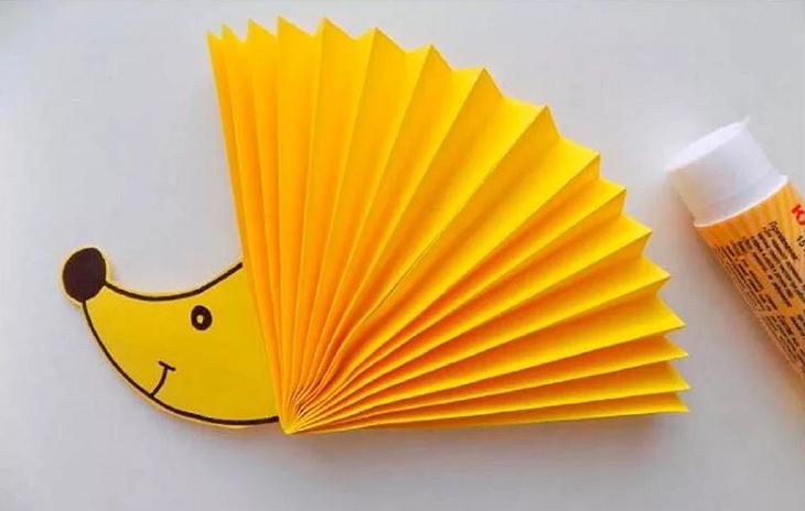 Ежик из бумаги
