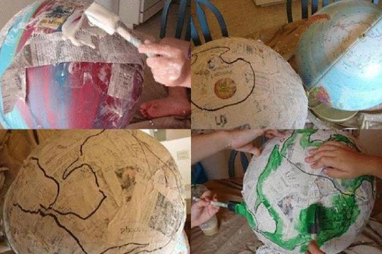 Мастер-класс по изготовлению глобуса из бумаги