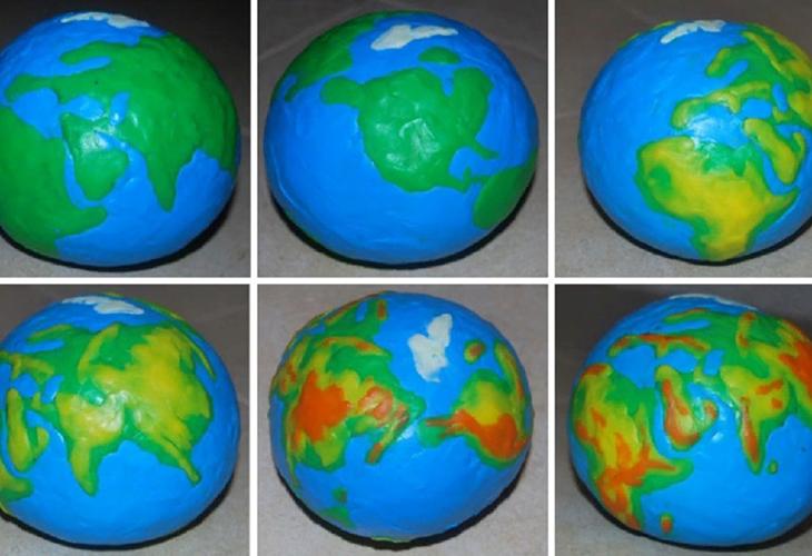 Мастер-класс по изготовлению глобуса из пластилина