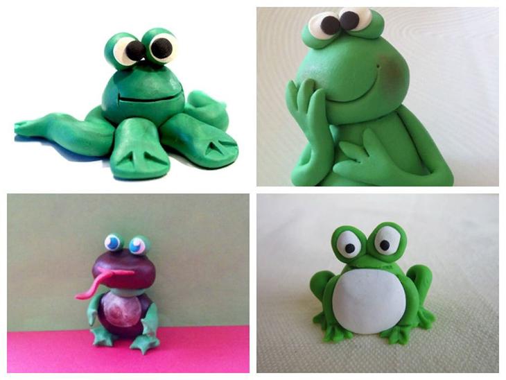 Пластилиновая лягушка