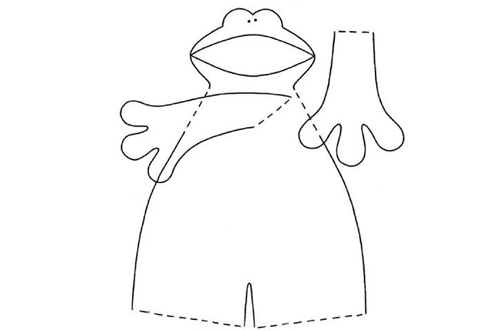 Выкройка лягушки-тильды