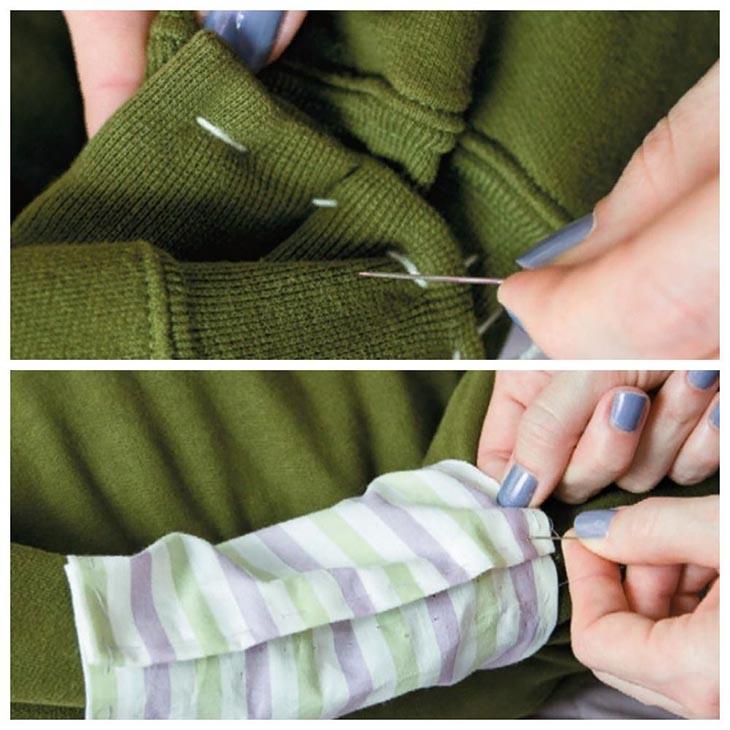 Делаем  лежанку их свитера или толстовки