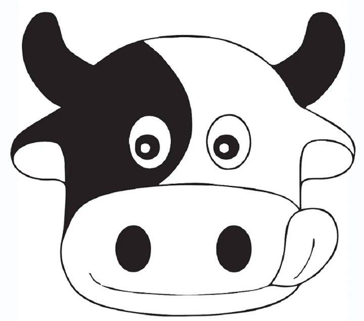 Рисунок мордочки коровы