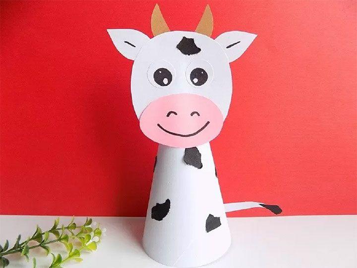 Объёмная бумажная корова