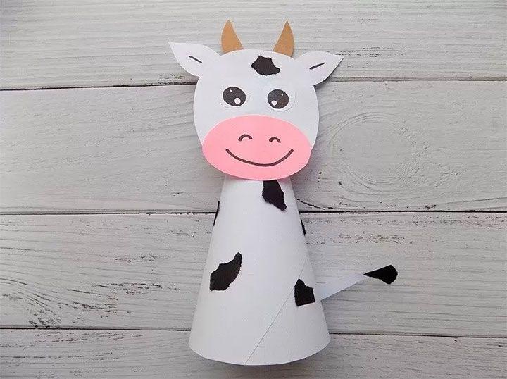 Корова бумажная