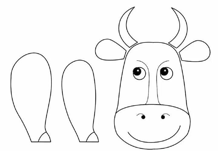 Выкройка деталей коровы