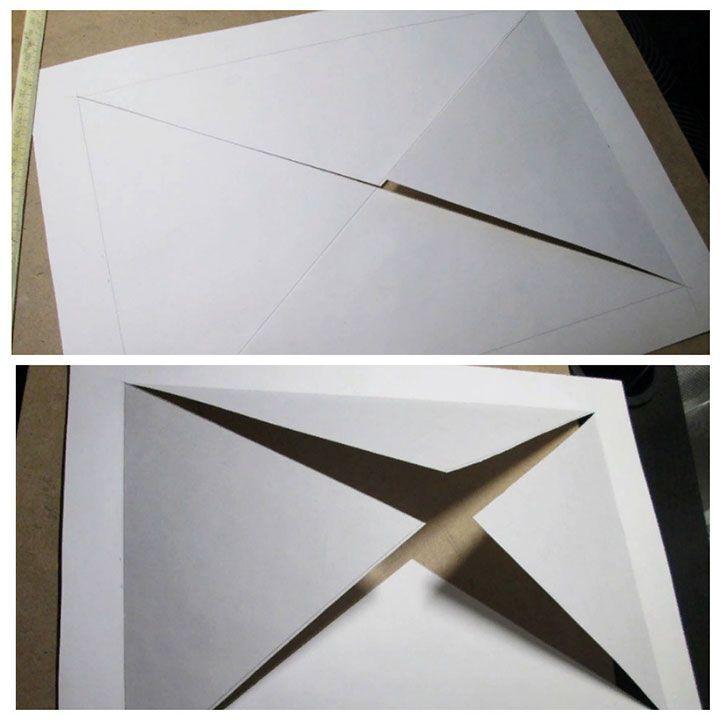 Паспарту из бумаги