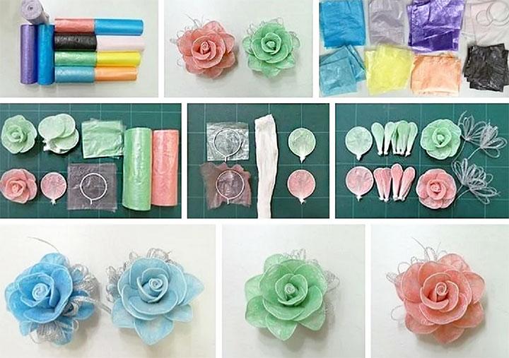 Цветы из пакетов