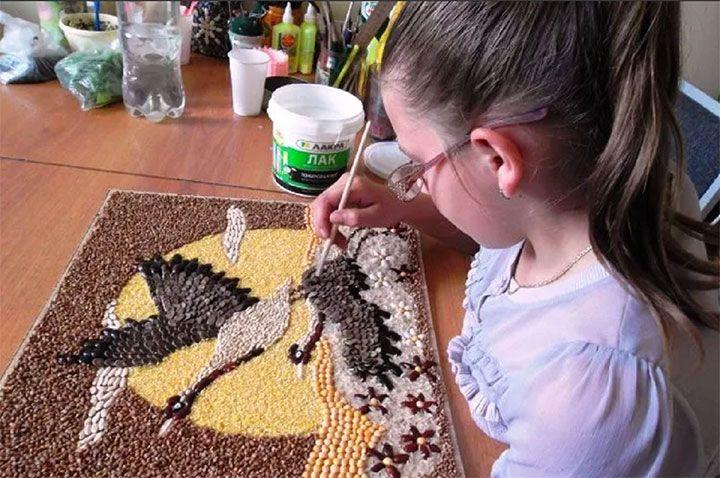Поделки из семян и круп