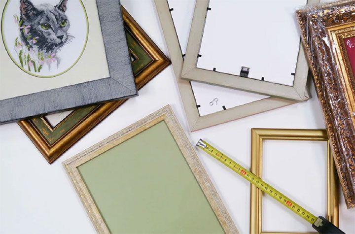 Подготовка рамки для картины
