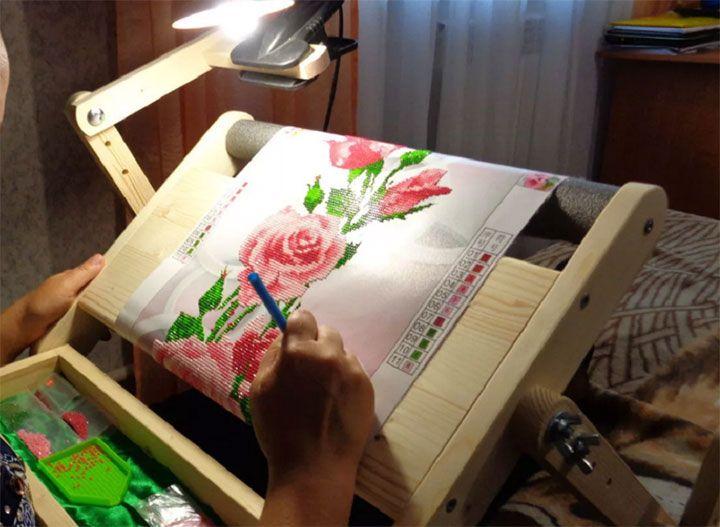Изготовление картины в технике алмазной мозаики