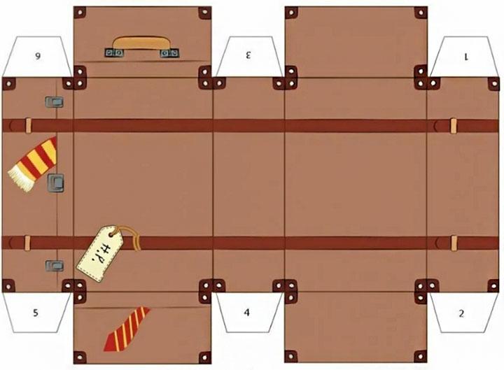 Схема сборки чемодана